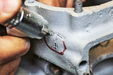 Чем можно заклеить блок двигателя?