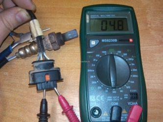 Как проверить датчик кислорода мультиметром?