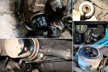 Почему выдавливает масло из двигателя?