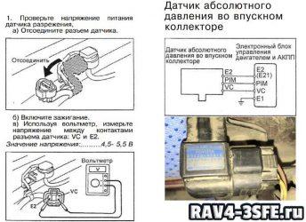Проверка датчика абсолютного давления во впускном коллекторе