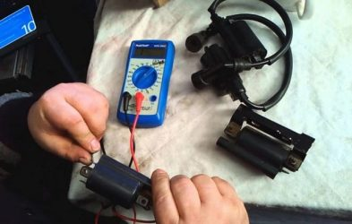 Как проверить катушку зажигания на триммере мультиметром?