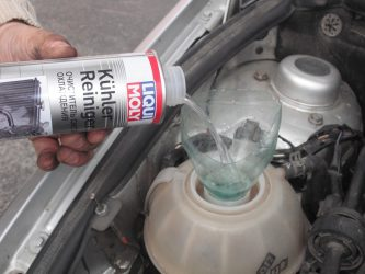 Как промыть систему охлаждения двигателя после герметика?
