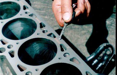 Чем заклеить алюминиевый блок двигателя?