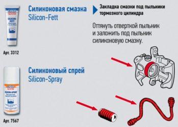 Смазка под пыльник тормозного цилиндра