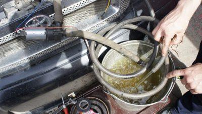 Промывка системы охлаждения двигателя дистиллированной водой