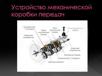 Из чего состоит коробка передач механическая?