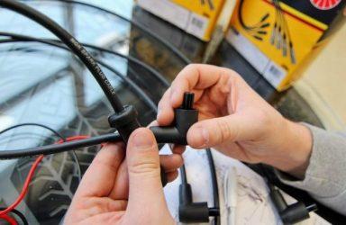 Признаки неисправности высоковольтных проводов зажигания