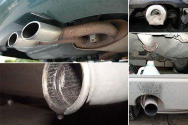 Вода из глушителя на прогретом двигателе